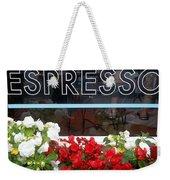 Espresso Weekender Tote Bag by Cynthia Amaral