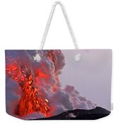 Explosion Of Lava, Ash, And Steam Weekender Tote Bag
