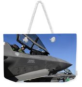 F-35b Lightning II Variants Are Secured Weekender Tote Bag