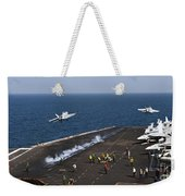 Fa-18f Super Hornets Launch Weekender Tote Bag
