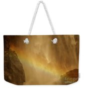 Face In The Rainbow Weekender Tote Bag