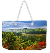 Fall Forest Rain Storm Weekender Tote Bag by Elena Elisseeva