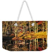 Fall Forest Reflections Weekender Tote Bag by Elena Elisseeva