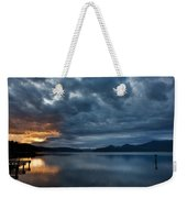 Fall Sunset Over Lake Pend Oreille Weekender Tote Bag