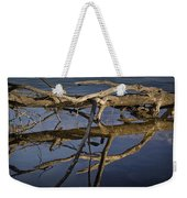Fallen Tree Trunk With Reflections On The Muskegon River Weekender Tote Bag