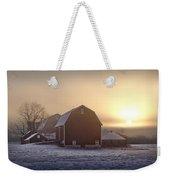 Farm Winter Sunrise Weekender Tote Bag