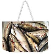 Fine Catch Of Trout Weekender Tote Bag