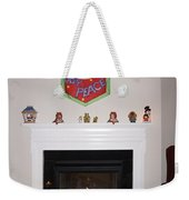 Fireplace At Christmas Weekender Tote Bag