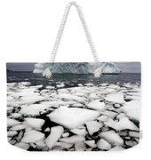 Floating Ice Shattered From Iceberg Weekender Tote Bag