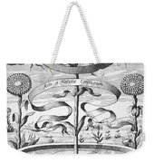 Flower Clock, 1643 Weekender Tote Bag