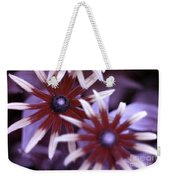 Flower Rudbeckia Fulgida In Uv Light Weekender Tote Bag by Ted Kinsman