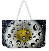 Flowers In Water Drops Weekender Tote Bag