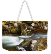Flowing River Blurred Through Rocks Weekender Tote Bag