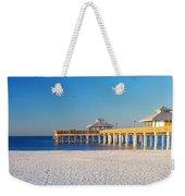 Fort Myers Beach Pier Weekender Tote Bag
