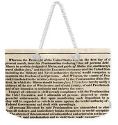 Freedom To Slaves Weekender Tote Bag