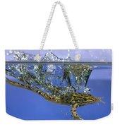 Frog Jumps Into Water Weekender Tote Bag