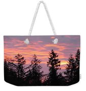 Frosted Morning Silhouette Weekender Tote Bag