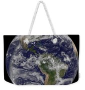 Full Earth Showing North America Weekender Tote Bag