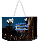 Ghirardelli Chocolate Signs At Night Weekender Tote Bag