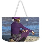 Girl At A Lake Weekender Tote Bag by Joana Kruse