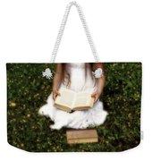 Girl Is Reading A Book Weekender Tote Bag