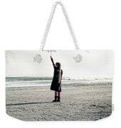 Girl On The Beach With Parasol Weekender Tote Bag by Joana Kruse