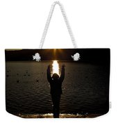 Girl With Sunset Weekender Tote Bag
