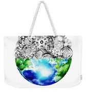 Globe With Cogs And Gears Weekender Tote Bag