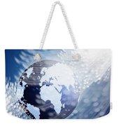 Globe With Fiber Optics Weekender Tote Bag