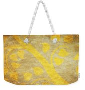 Golden Tree Pattern On Paper Weekender Tote Bag by Setsiri Silapasuwanchai