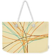 Graphic Line Pattern Weekender Tote Bag by Setsiri Silapasuwanchai