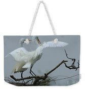 Great Egret Pair Weekender Tote Bag