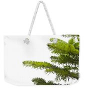 Green Branches Of A Christmas Tree Weekender Tote Bag