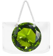 Green Gem Isolated Weekender Tote Bag