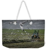 Gull Chased Tractor Weekender Tote Bag