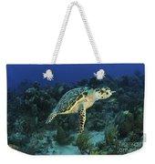 Hawksbill Turtle On Caribbean Reef Weekender Tote Bag