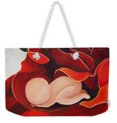 Healing Painting Baby Sleeping In A Rose Weekender Tote Bag