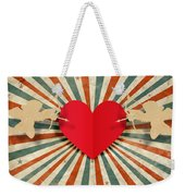 Heart And Cupid With Ray Background Weekender Tote Bag by Setsiri Silapasuwanchai