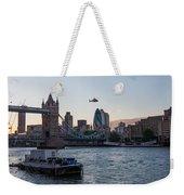Helicopter At Tower Bridge Weekender Tote Bag