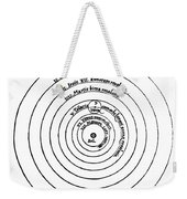 Heliocentric Universe, Copernicus, 1543 Weekender Tote Bag by Science Source
