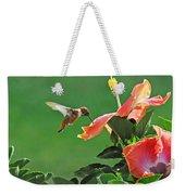 Hibiscus Hummer Weekender Tote Bag