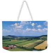 High Angle View Of Fields, Stradbally Weekender Tote Bag