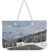 Highway 40 In Winter, Highwood Pass Weekender Tote Bag
