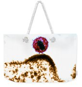 Hiv Budding Out Of Immune Cell, Tem Weekender Tote Bag