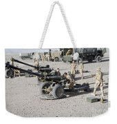 Howitzer 105mm Light Guns Are Lined Weekender Tote Bag