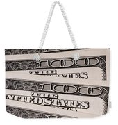 Hundred Dollar Bills Weekender Tote Bag