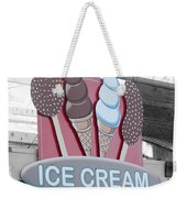 Ice Cream Sign Weekender Tote Bag