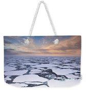 Ice Floes At Sunset Near Mertz Glacier Weekender Tote Bag
