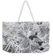 Ice Patterns On Pond, Alberta Canada Weekender Tote Bag