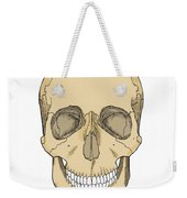 Illustration Of Anterior Skull Weekender Tote Bag